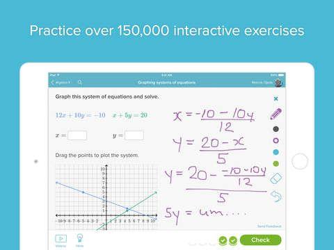 Khan Academy learn math, biology, chemistry, economics