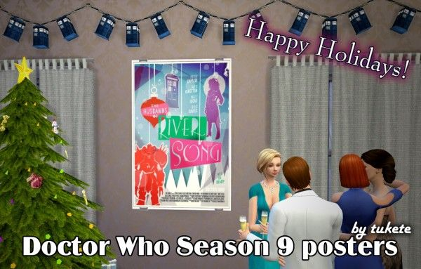 Tukete: Doctor Who Season 9 posters • Sims 4 Downloads