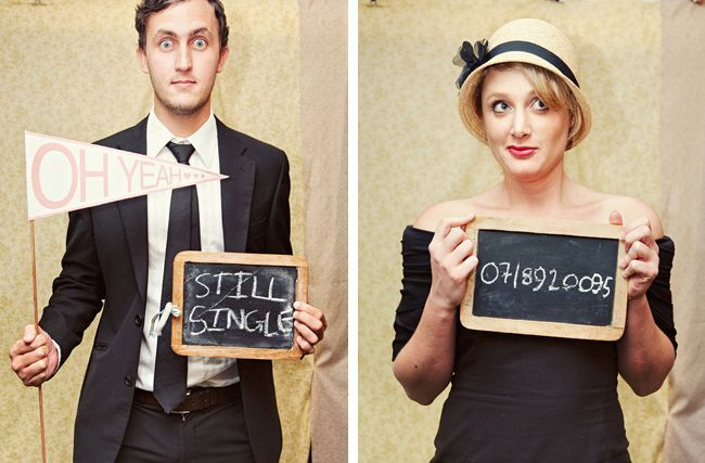 chalkboard picture frames used for photobooth props  | followpics.co