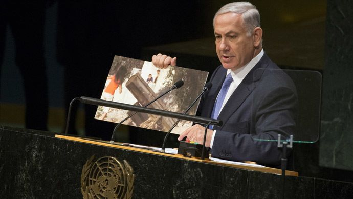 """The Palestine Liberation Organization has stated that the Israeli Prime Minister Benjamin Netanyahu's UN speech was about blatantly manipulating facts and misleading the audience. """"Obviously Netanyahu has lost touch with reality, particularly in refusing to acknowledge the fact of the occupation itself or the actions of the Israeli army of occupation in committing massacres and war crimes,"""""""