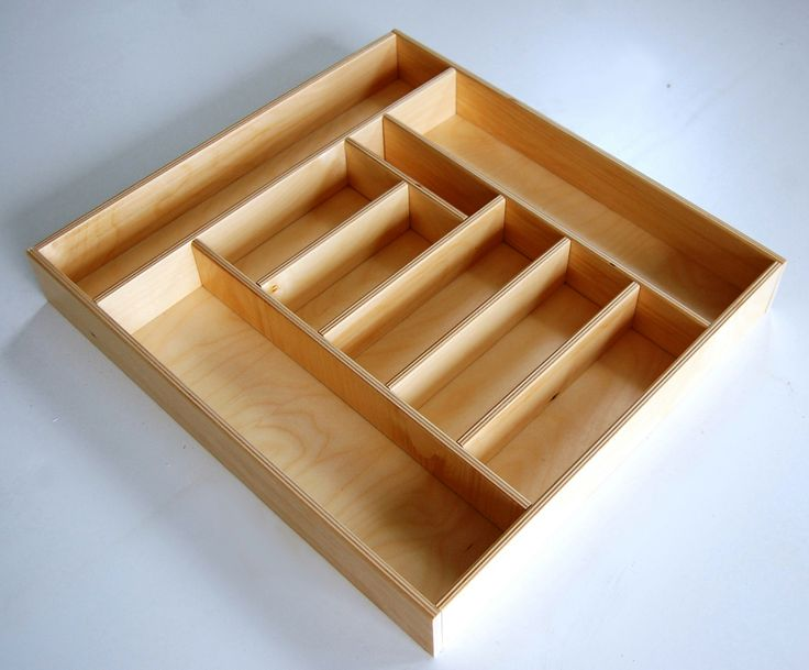 Ambrogio- Cutlery tray in wood for kitchen drawer wide of 45 cm or 60 cm  Material: birch plywood 10 mm thick  Dimensions for drawer of 45 cm (length x width x depth): 36 x 33.8 x 6 cm  Dimensions for drawer of 60 cm (length x width x depth): 48x 45 x 6 cm   On request it is possible to customize the product by varying the size and number of compartments or surface finish.  For information and free estimates call +39 051945785 or send an email to g.nusfurniture@gmail.com  Follow us on…