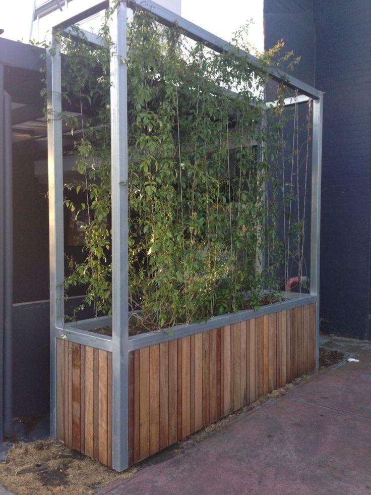 Planter box green screen in home garden gardening for Outdoor planter screen