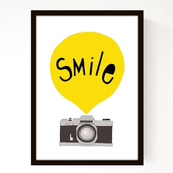 Seventy Tree Smile Print - Yellow