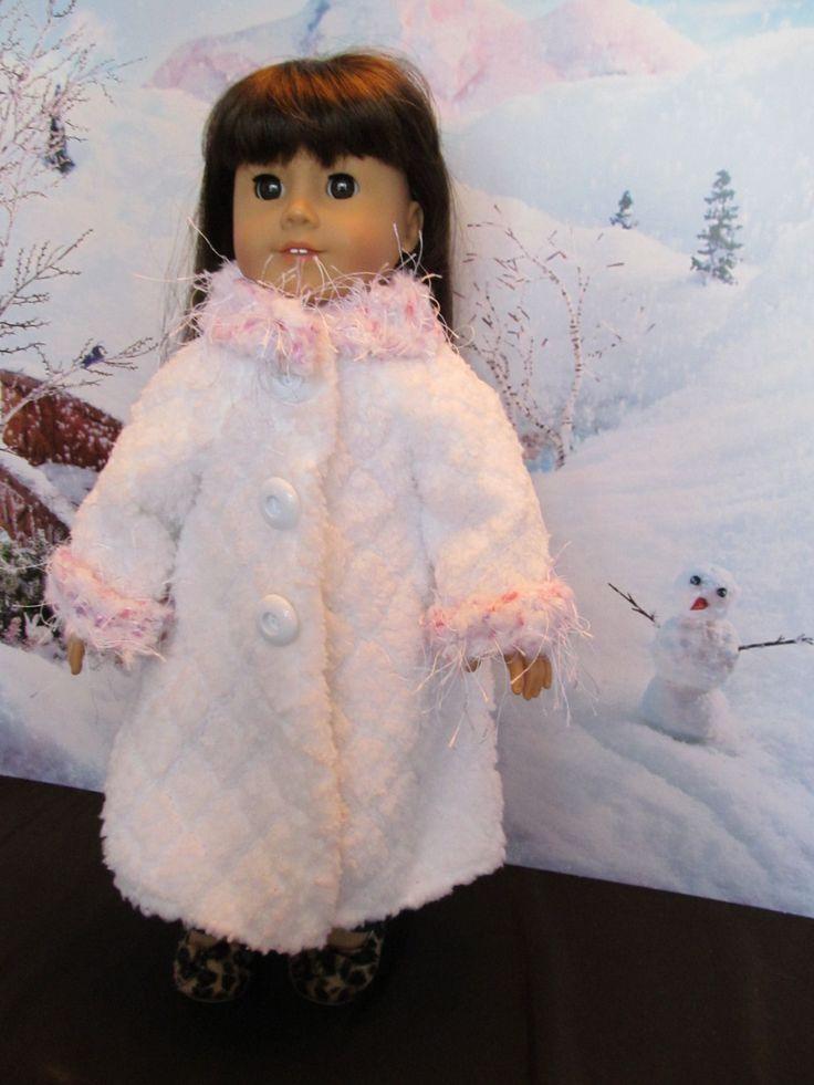 18'' Doll White Coat , as seen on an American Girl, Fuzzy Coat, Long Coat, Winterwear,Dress-up Coat, Fancy Coat,Outer Wear, Fun Anytime Coat by SewManyThingsbyNancy on Etsy