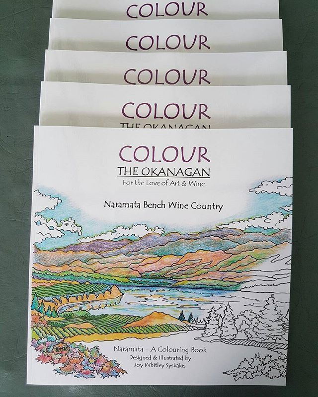 Our colouring books have arrived! Come purchase YOUR copy through our website:) Naramata Bench Wine Country, a colouring book designed and Illustrated by Joy Whitley Syskakis of Colour the Okanagan Illustrations Company. Request YOUR very own copy today via our website! All images and illustrations are Copyright protected!