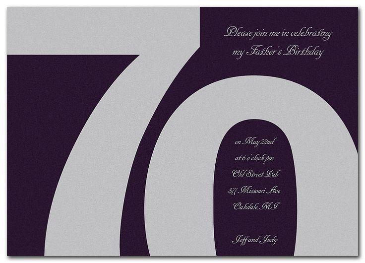 Classic at 70 - Birthday Invitations by Invitation Consultants. (IC-ERH42MMR-227 )
