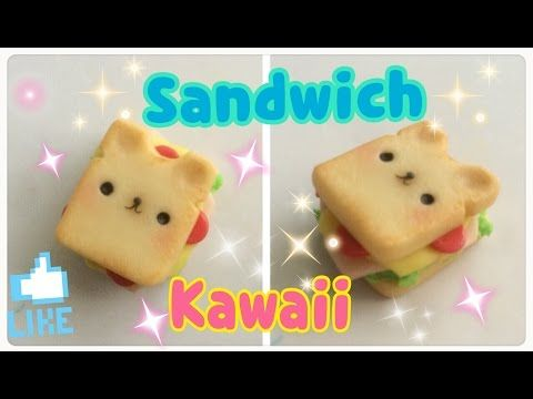 Kawaii Bear Sandwich porcelana fría tutorial