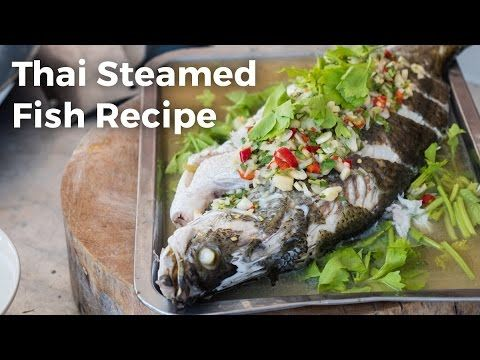 1189 best food videos images on pinterest asian food recipes thai steamed fish with lime and garlic recipe youtube forumfinder Gallery