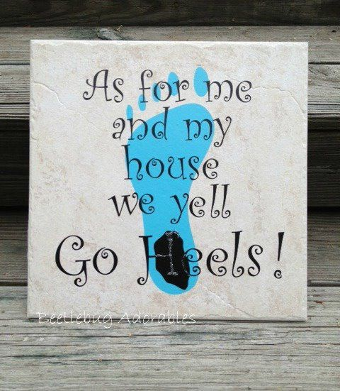 Customized Tile  Go Tarheels UNC by BeetlebugAdorables on Etsy, $20.00