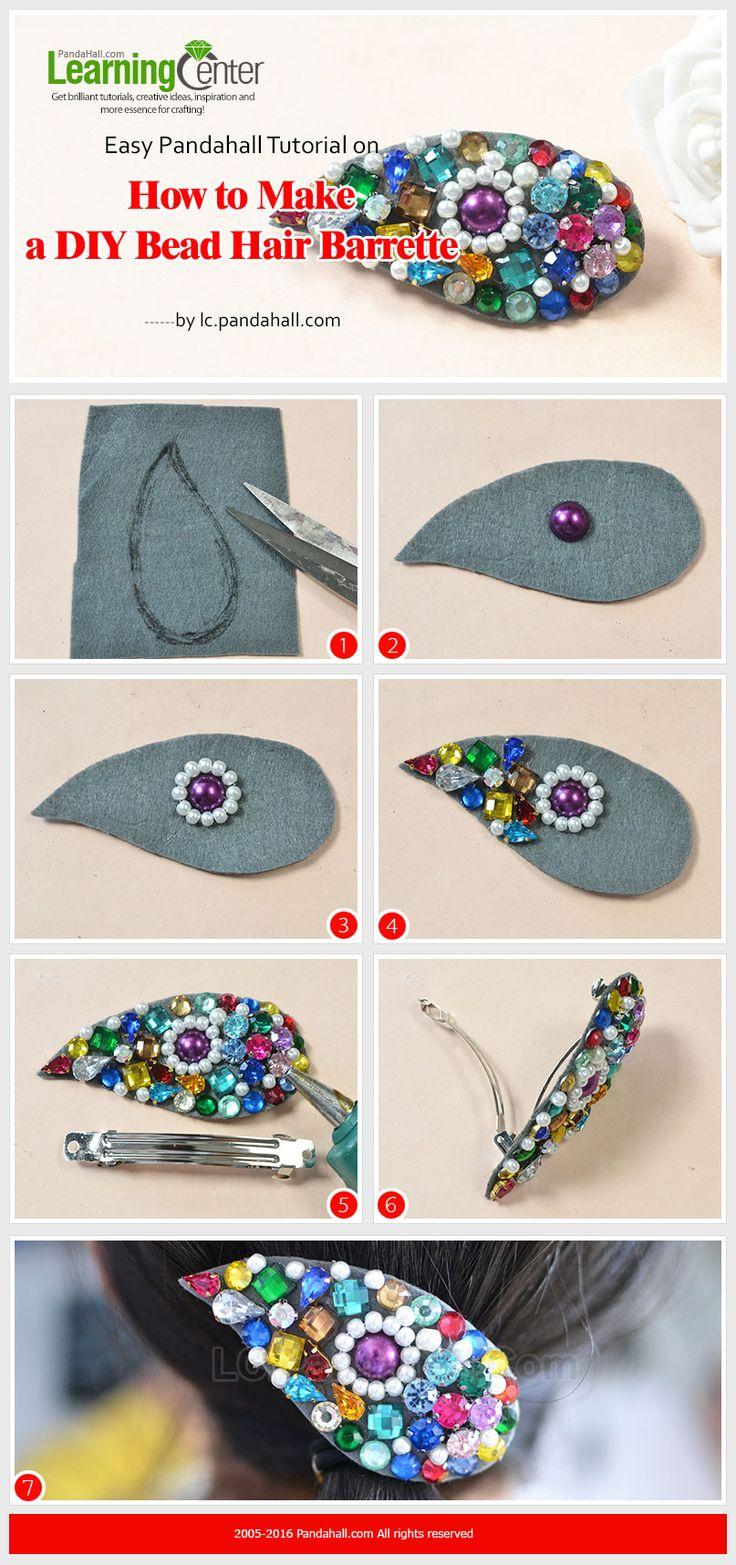 Easy Pandahall Tutorial on How to Make a DIY Bead Hair Barrette