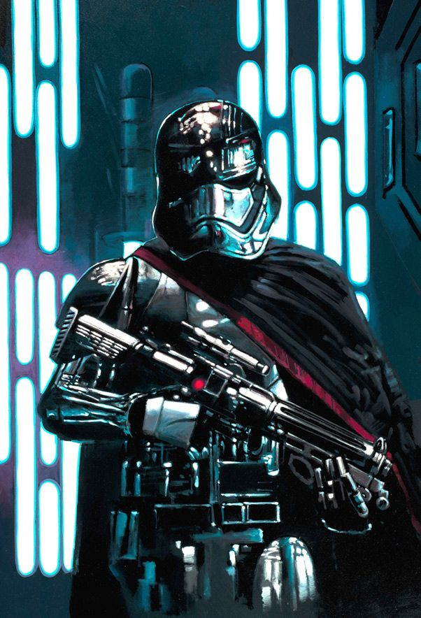 Captain Phasma by Rodel Gonzalez - Giclee on Canvas, 20 x 30, L/E of 195 - $450