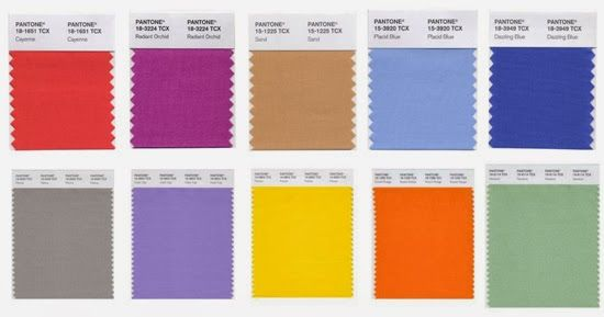 Pantones 2014 color trend report.  So stoked about these colors ! #fashion #fashiontrend #fashion2014