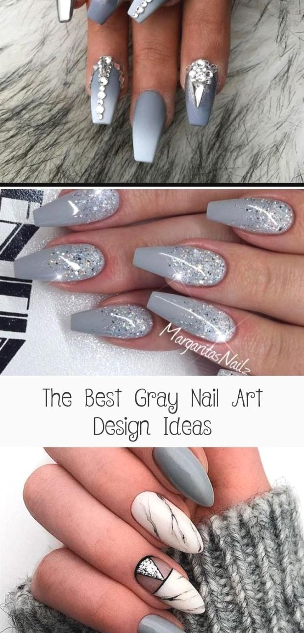 The Best Gray Nail Art Design Ideas Gray Nails Grey Nail Designs Ombre Nails Glitter