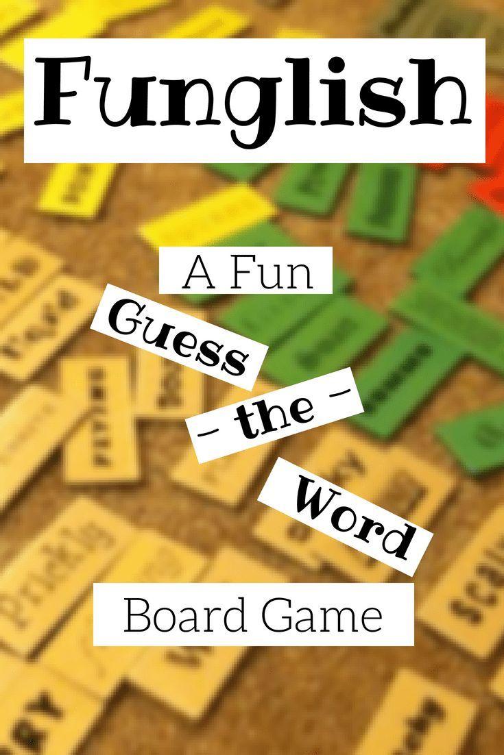 Funglish A Fun Guess The Word Board Game Guess The Word Guess The Word Game Homeschool Sign Language
