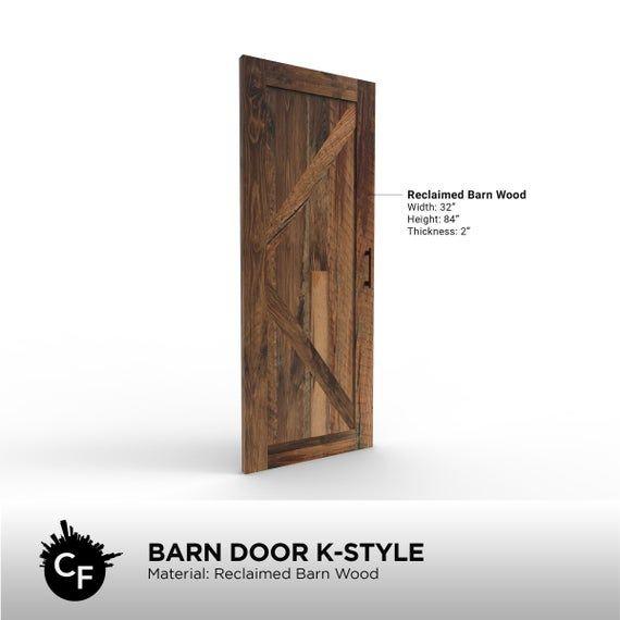 K Bar Style Barn Door Etsy In 2020 Reclaimed Barn Wood Barn Door Barn Wood