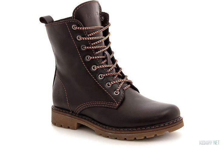 Утепленные ботинки Forester 3553-45 Коричневая кожа