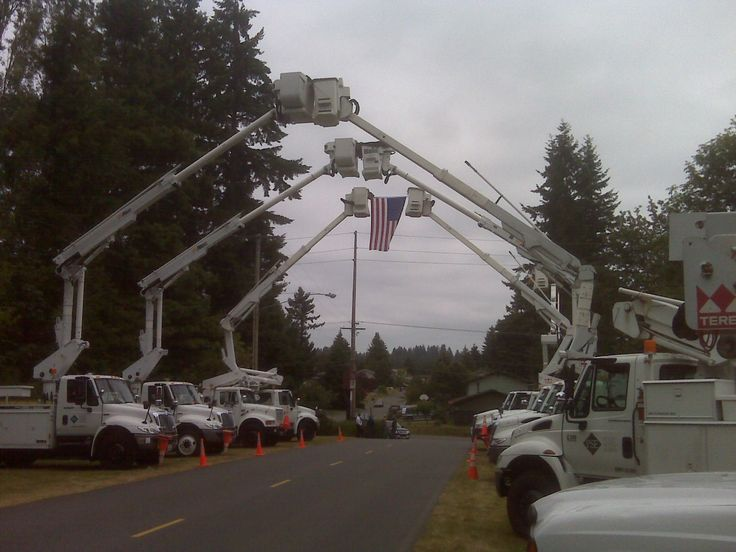 Electrical Lineman Honoring One of Their Own