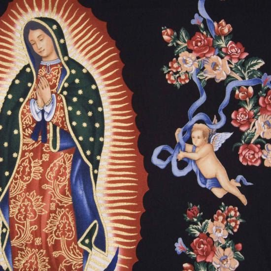 Virgen de Guadalupe Fabric by TheCraftyTree on Etsy, $9.50