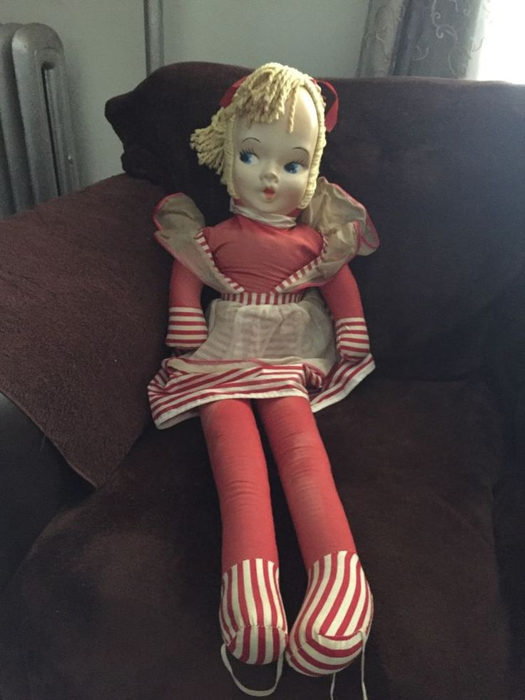 "VINTAGE DANCE WITH ME DOLL Celluloid face 34""TALL Red body ..."
