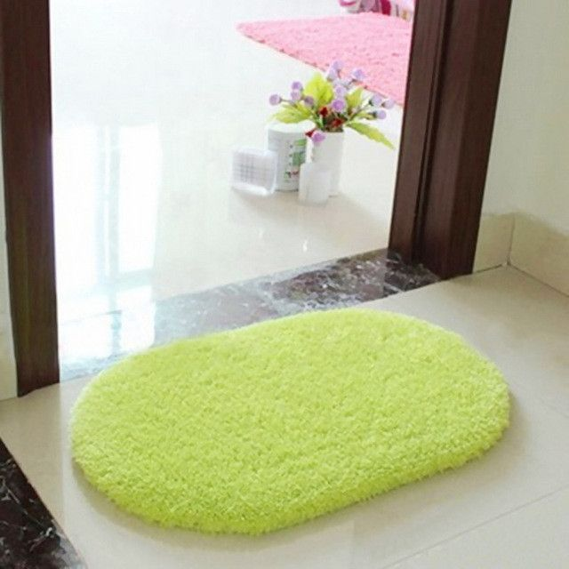 Bathroom Carpets Absorbent Soft Memory Foam Doormat Floor Rugs Oval Non-slip Bath Mats 40 x 60cm #MemoryFoamStyles