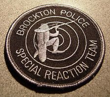 Brockton Police Special Reaction Team Police Department Patch