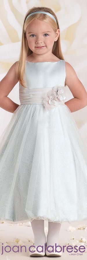 Joan Calabrese for Mon Cheri - Style No. 115322 #flowergirldresses…