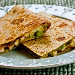 Kalyn's Kitchen®: Recipe for Turkey and Guacamole Quesadilla (to make from leftover Thanksgiving turkey or chicken)
