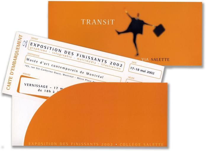 Invitation Exposition - Collège Salette - Design et réalisation