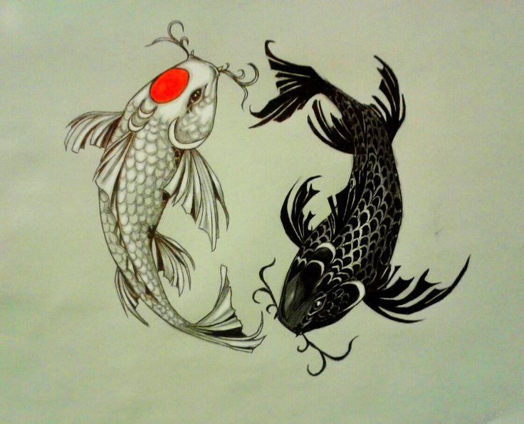 Les 10 meilleures images du tableau poissons japonais sur for Koi ou poisson rouge