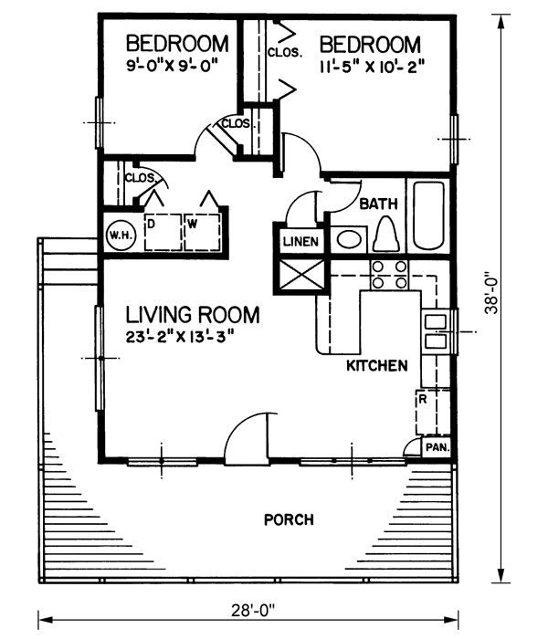 Country style house plans 720 square foot home 1 story for 720 sq ft apartment floor plan