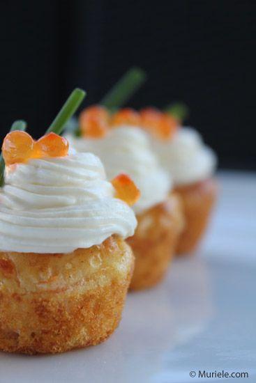 Cupcakes au saumon et fromage frais