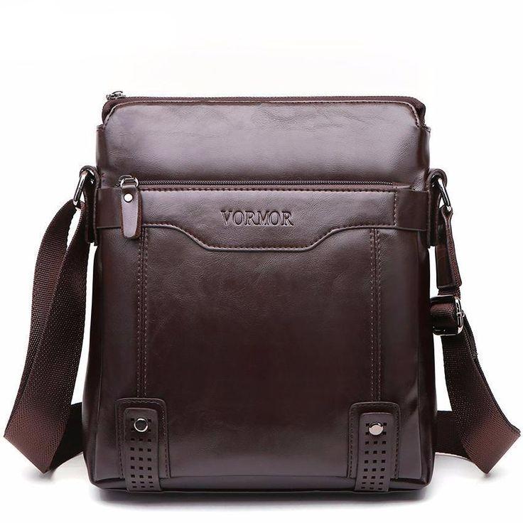 VORMOR Brand Fashion PU Leather Men's Messenger Bags Portfolio Office Men Bag, Quality Travel Shoulder Bag Handbag for Man - bazzmart