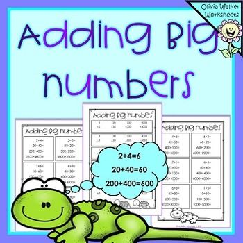 FREE+-+Adding+Big+NumbersThis+is+a+set+of+10+black+and+white+printable+worksheets.++They+are+designed+for+students+to+add+the+ones+to+help+them+add+tens,+hundreds+and+thousands.+More+details+below....Adding+Ones,+Adding+Tens,+Adding+Hundreds,+Adding+Thousands+Horizontal+Addition+x+5Adding+Ones,+Adding+Tens,+Adding+Hundreds,+Adding+Thousands+Vertical+Addition+x+5Enjoy+Customer+Tips:+***+How+to+get+TPT+credits+to+use+on+future+purchases+***Go+to+your+My+Purchases+page.