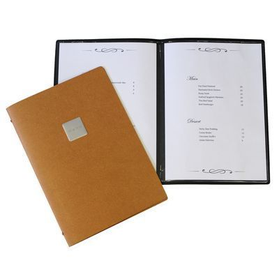 Our two pocket leather menus are perfect for your establishment!