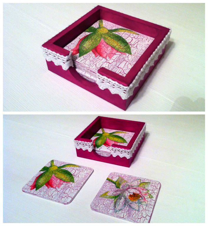 Decoupage - coasters