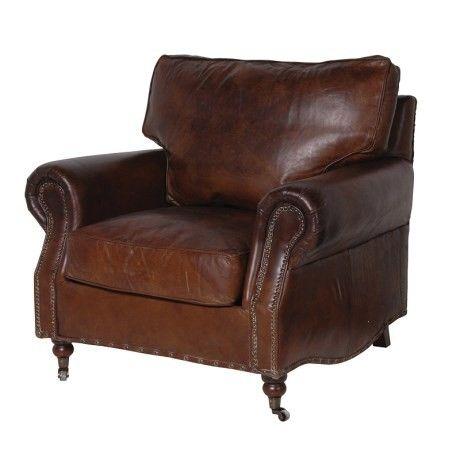 Design Vintage   Elegant Leather Armchair   Vintage Leather