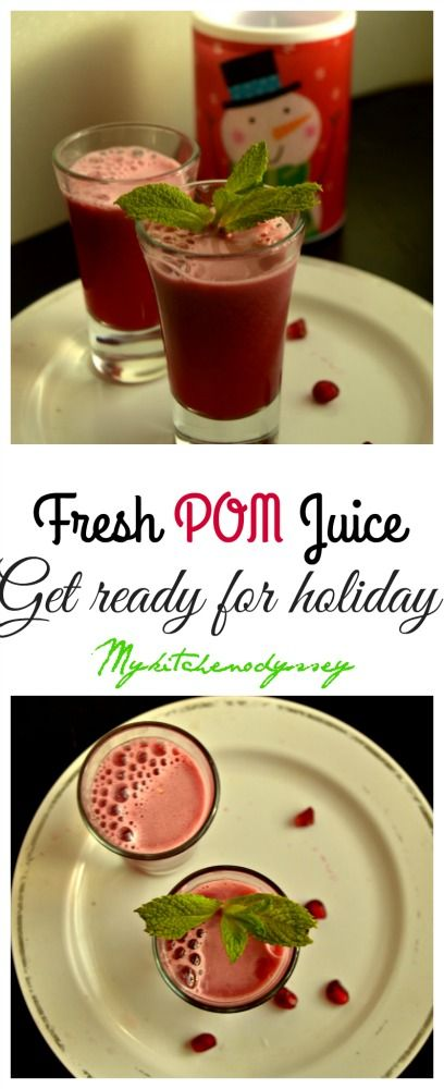 Heart healthy POM Juice made from fresh pomegranate arils ..You have a secret ingredient that makes this juice even more healthier..Yeah !! its ginger ..