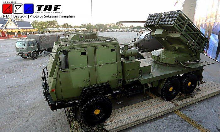 Royal Thai Army DTI-2 MLRS system 122mm demonstration – Video