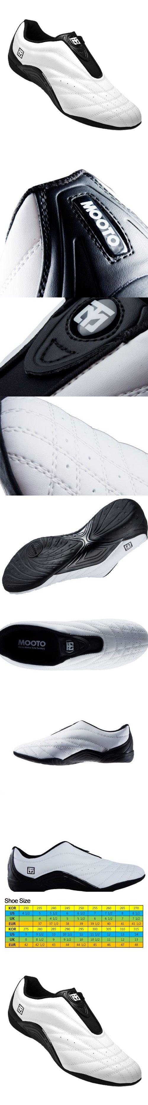 Mooto Wings Korea TaeKwonDo Shoes TKD Competition Twotone & Black 4 1/2 to 14 (Black & White, 280mm(US 9 1/2))