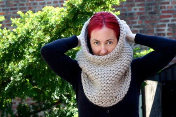 more colors the super bulky inga hood hand knit 100  wool hooded cowl by amylaroux  winter