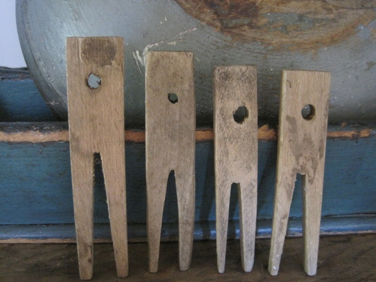 19th Century Primitive Lot of Four Hand Made Wood Clothespins Great Find  | eBay  sold   50.00