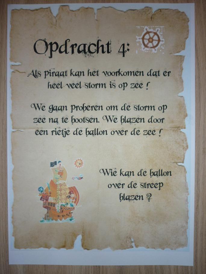 Piratentocht, Opdracht 4. -CE-