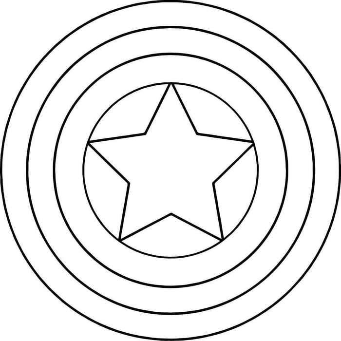 Captain America Shield Coloring Page Captain America Coloring Pages Superhero Coloring Pages Star Coloring Pages