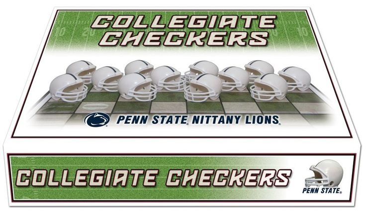 Hot new item just added today Penn State Nittan.... Click here http://everythinglicensed.com/products/penn-state-nittany-lions-checker-set-1?utm_campaign=social_autopilot&utm_source=pin&utm_medium=pin take a closer look.