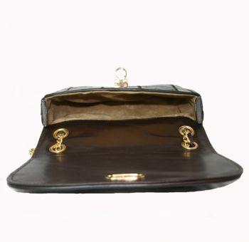 #Bolso de cocodrilo autentico en color marron chocolate. Modelo Sibaris
