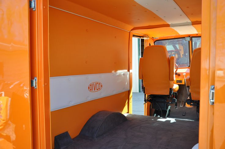 1962 divco custom milk truck rear interior
