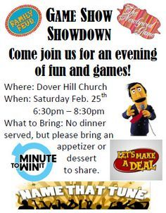 Game show showdown.  This would be fun for a ward activity or Family Reunion