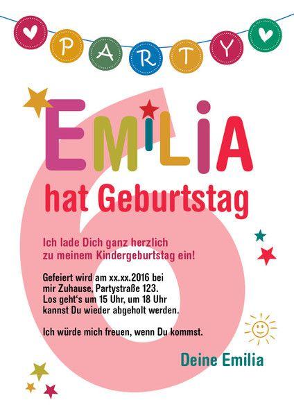 Einladungskarten - Kindergeburtstag Einladung * PDF zum Selbstdruck - ein Designerstück von Sonna76 bei DaWanda