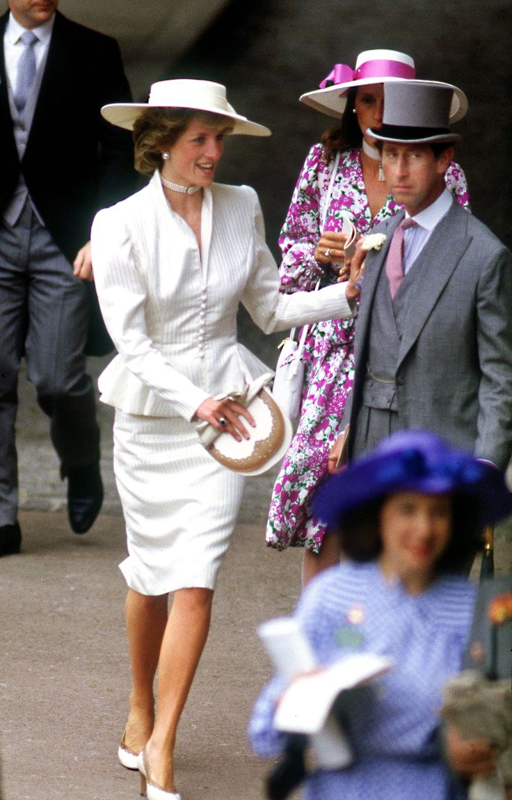 """Diana and Charles ~ Could he have looked any worse? It's a """"I could kill that person,"""" look."""