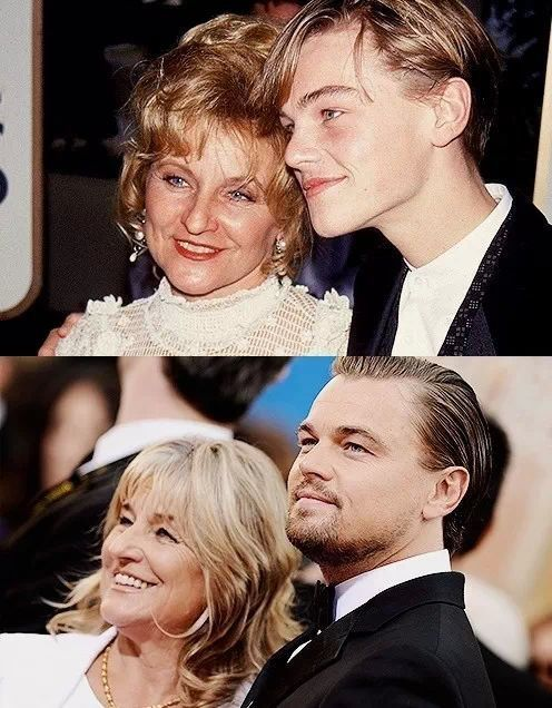 Leonardo DiCaprio at Golden Globes 1994/2014 with his mom